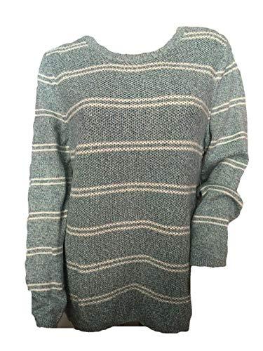 Talbots Classic Crewneck Sweater Striped Pullover Tunic Size XL ()