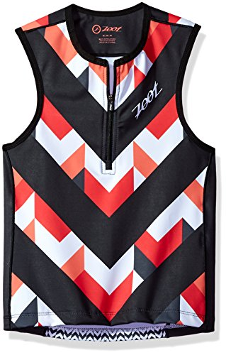(Zoot Sports Unisex Protege Tri Top, Chevron Stripe, Large)