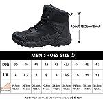 FREE SOLDIER pour Homme Mid Haute durabilité Lacets Bottes Durable Imperméable Armée Combat Chaussures Respirant… 14