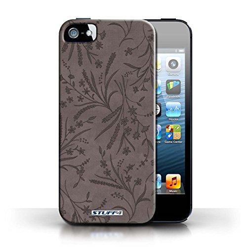 Etui pour Apple iPhone 5/5S / Gris conception / Collection de Motif floral blé