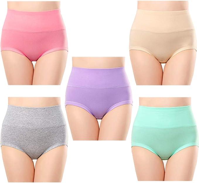 Anntry Ropa Interior de algodón Confort para Mujer de 5 Calzones ...
