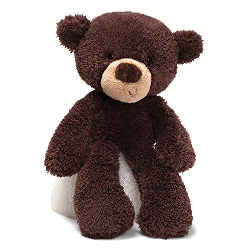 GUND Fuzzy Teddy Bear Stuffed Animal Plush, Chocolate Brown, 13.5