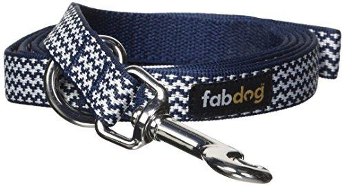 fabdog Chevron Stripe Dog Lead, Eco-Friendly Dog Leash (Navy, Small)