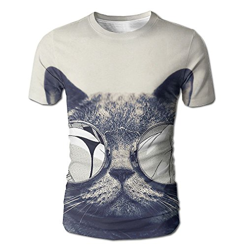 MNNS Wild Beast Male Graphic Fashion Cat Sunglasses Short T-shirt - Soul Wild Sunglasses