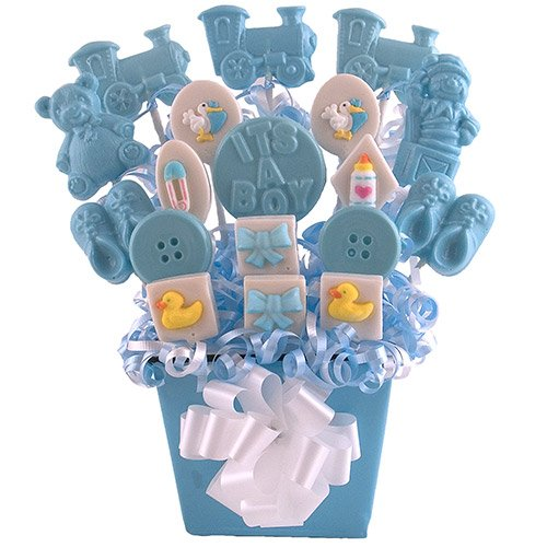 """Sweet Baby Boy"" Lollipop Bouquet"