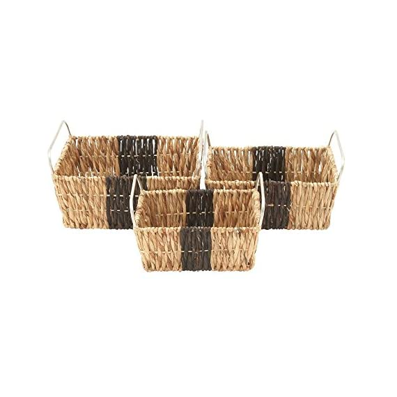 "Deco 79 41138 Sea Grass Storage Basket (Set of 3), 16""/18""/20""W - Makes a decorative piece for home and outdoor decor Measures 18. 75-Inch length by 23. 5-Inch height by 12-Inch width This product is Made in India - living-room-decor, living-room, baskets-storage - 51b0 %2BthFtL. SS570  -"