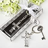 Delicate Intertwined Metal Cross Key Chain (144)