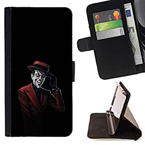 DEVIL CASE - FOR Apple Iphone 6 - The Laughing Red Suit Joker - Style PU Leather Case Wallet Flip Stand Flap Closure Cover