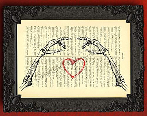 Amazon Skeleton Arms Art Print Gothic Love Wedding Decorations