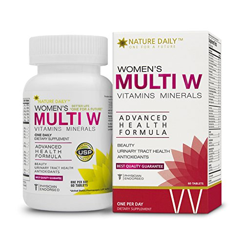 Hair Vitamins Formula 37 (Nature Daily Women's Multi W Vitamins Minerals, Advanced Health Formula, One A Day, 60 Tablets, Whole Food Multivitamins, Supplements)