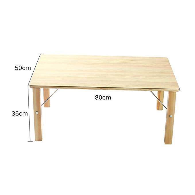 Amazon.com: qffl mesa plegable madera maciza cama ...