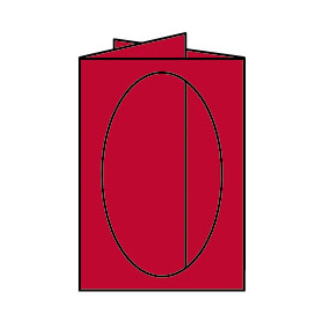 Rössler Papier - - Paperado-Karte Ft.B6 PP-oval, Rot - Liefermenge  25 Stück B07CX83VKR | Produktqualität