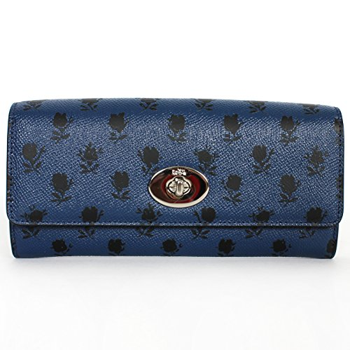 Coach 52965 Crossgrain Pop Slim Envelope Wallet W/pouch Blue Black Badland