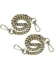 Penta Angel Iron Flat Bag Chain Strap 2 Pack 15.7'' Long Purse Wallet Handbag Wrist Clutches Handles Replacement Accessories with Metal Buckles for DIY Craft