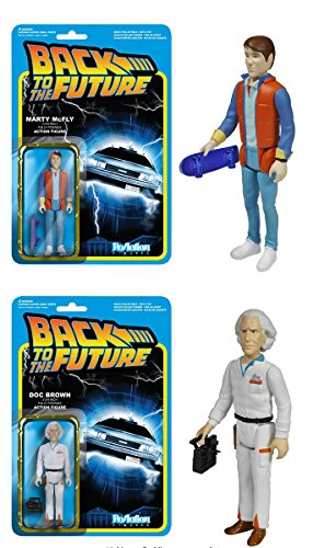 "Back To The Future Reaction 3.75"" Action Figure Set Of 2"