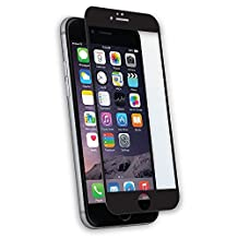 Qmadix Invisible First-Defense Edge-to-Edge Tempered Glass 9H for Apple iPhone 6 - Retail Packaging - Black