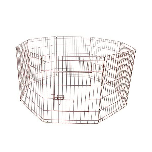 ALEKO SDK-30P Heavy Duty Pet Playpen Dog Kennel Pen Exercise Cage Fence 8 Panel 30 x 24 Inches Pink Click on image for further info. 2