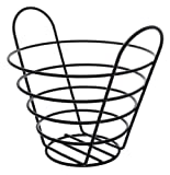 American Metalcraft BWB750 Round Wire Basket with Handles, 7 by 5-Inch, Black
