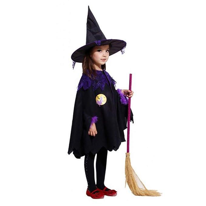 Amazon.com: 2018 Halloween Kids Witch Ropa de bruja disfraz ...