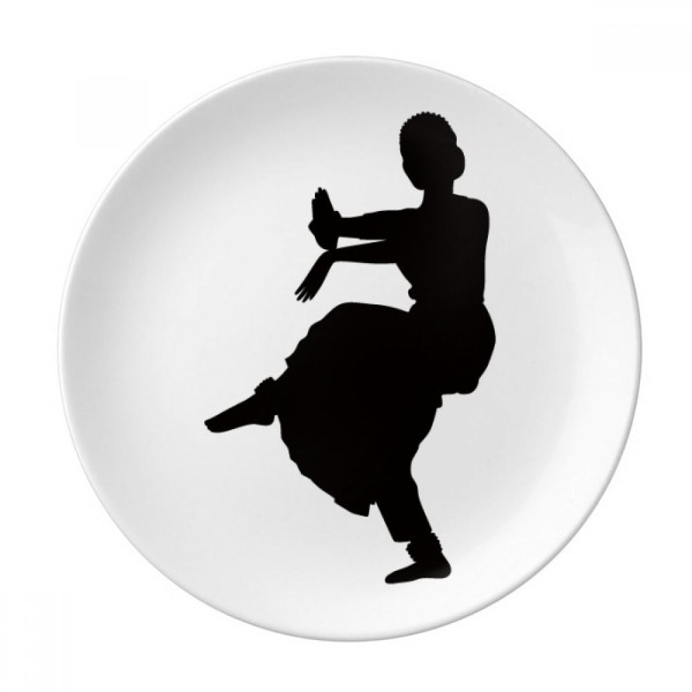 Dancer Art Peacock Dance Sports Dessert Plate Decorative Porcelain 8 inch Dinner Home