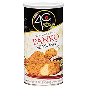 4C Premium Bread Crumbs | Regular & Gluten Free | Flavorful Crispy Crunchy | Value Pack (Panko Seasoned, 1pk)
