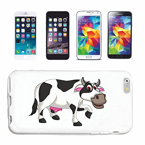 """cas de téléphone iPhone 6+ Plus """"COW HEUREUX AVEC PIS HOUSE bovins BOEUF DE BOUCHERIE"""" Hard Case Cover Téléphone Covers Smart Cover pour Apple iPhone en blanc"""
