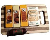 Northwoods Cheese and Sausage Variety Cutting Board Gift