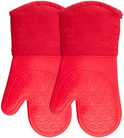 Silicone Mitts Quilted Cotton Lining