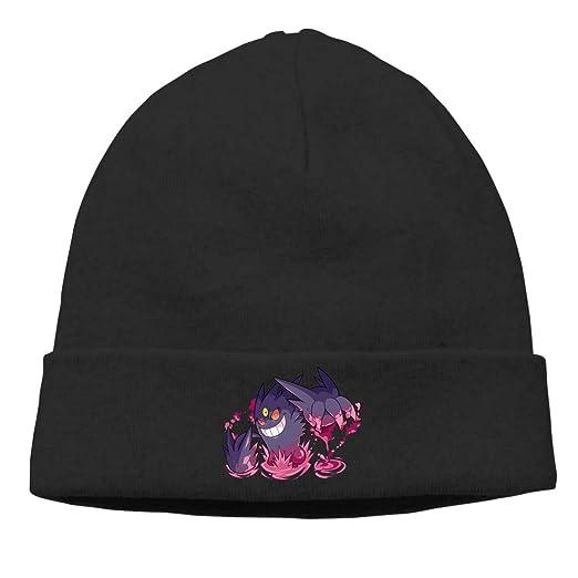 35e20e4dede MUtang Gengar Art Skull Hats Knitted Cap Beanie Black at Amazon ...