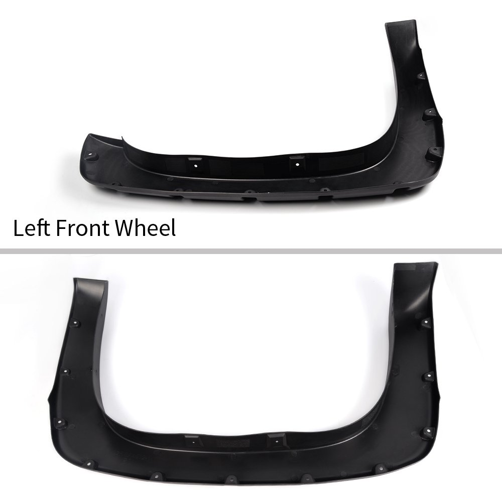 Incl. 2007 Classic Models Pocket Rivet Style Wheel Fender Flare Cover Protector Textured Black for 1999-2006 Chevy Silverado GMC Sierra 1500//2500//3500HD