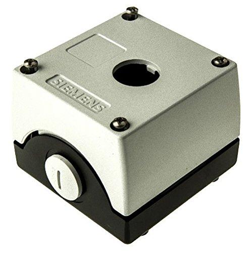 Siemens 3SB38 01-2AA3 Empty Enclosure, Metal, Used With Contact Blocks, Lampholders, 1 Pole Operator, 1 Hole - Metal Lampholder