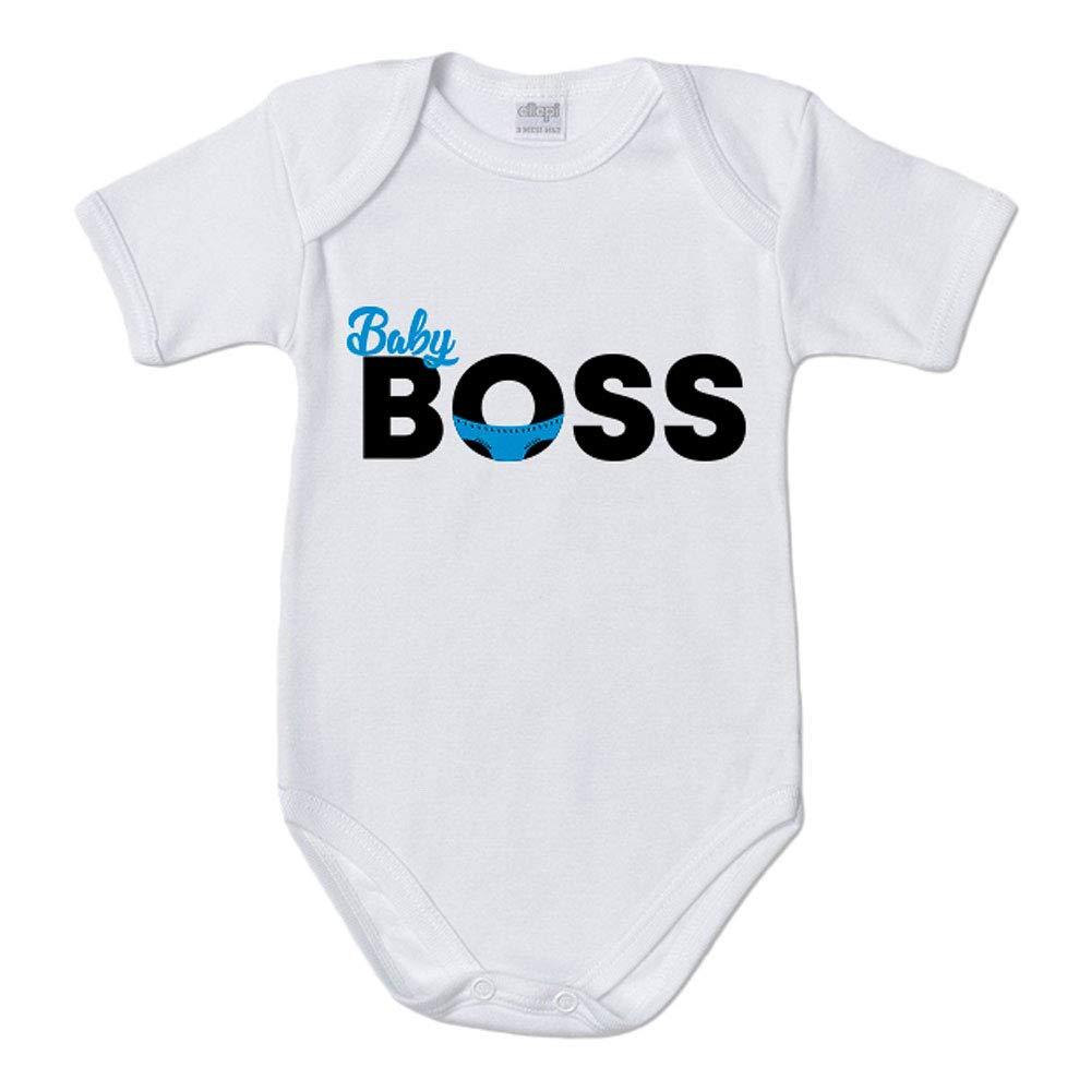 9 Mesi, Manica Corta Generico Body Neonato per Maschietto Baby Boss