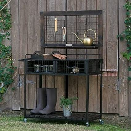 Amazon.com: By BeauGarden Garden Potting Bench,Wood and ...