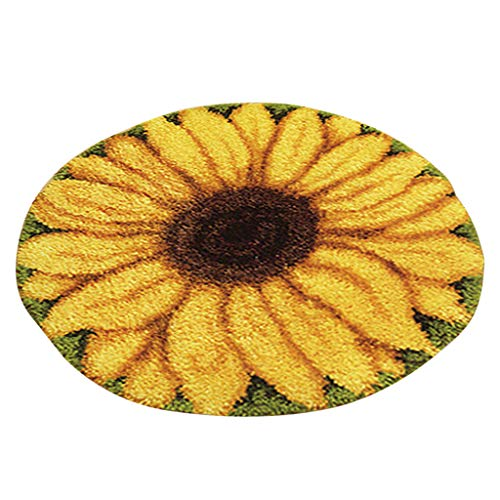 Baosity DIY Latch Hook Kit Rug Flower Dog Football Latch Hooking Kits for Beginners - Sunflower