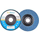40 Grit 4.5 Inch Sanding Flap Discs by LotFancy - Zirconia Alumina Abrasive Grinding Wheel, Pack of 10