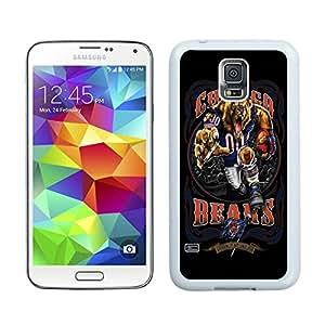 Samsung Galaxy S5 Chicago Bears 01 White Screen Cellphone Case Genuine and Popular Design