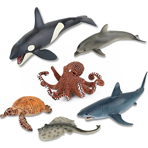 Ericoo Animal Toys Set Educational Resource High Simulation Ocean Animals Figures with CPC Approval and ASTM Test -