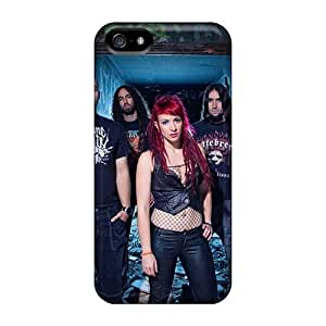 Great Hard Phone Cover For Iphone 5/5s With Unique Design Realistic Breaking Benjamin Pattern ChristopherWalsh