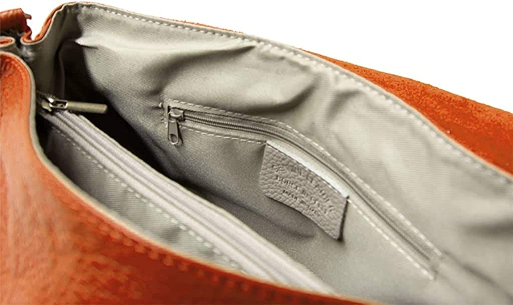 MARANT Tasche aus echtem Leder ALESSIA GRANDE 100% Made in Italy Arancio