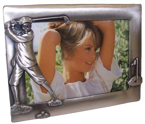 Navika PGA Male Vintage Golfer Pewter Photo Frame, Silver, 4 x 6 ()