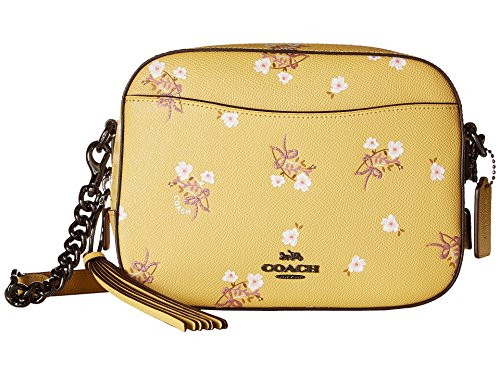 COACH Women's Camera Bag in Floral Printed Leather Dk/Sunflower One Size