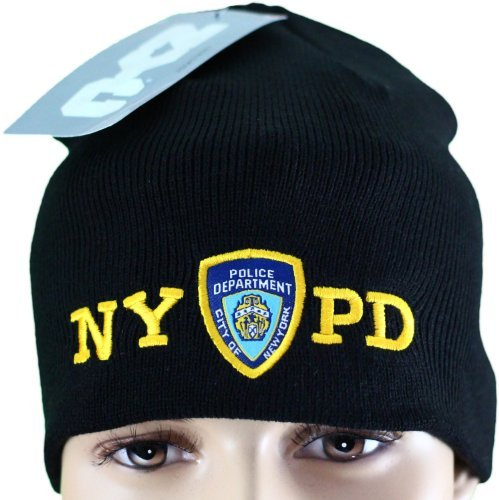 NYC FACTORY NYPD No Fold Winter Hat Beanie Skull Cap Officially Licensed  Black  Amazon.ca  Clothing   Accessories 63c80ba8c8db