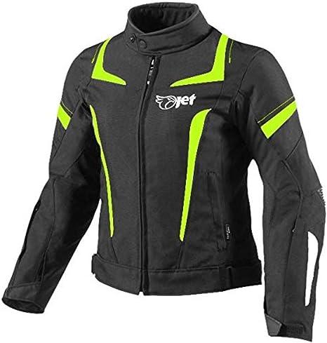 Jet Motorradjacke Damen Mit Protektoren Textil Wasserdicht Winddicht (XS (EU 32 34), Fluro)