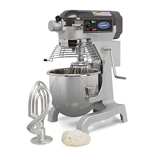 General GEM120 Free-Standing All-Purpose Mixer with 20-Quart Stainless-Steel (20 Quart Planetary Mixer)