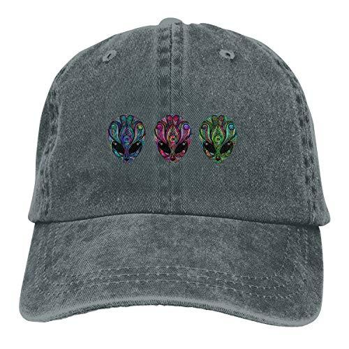 ASDGEGASFAS Baseball Cap Psychedelic Alien Totem Cotton Adjustable Peaked Dyed Cap Washed Cowboy Hat ()