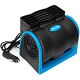 AUDEW Voiture Ventilateur Refroidissement Air Fan Vitesses Réglable Silencieuse avec 12V Allume-Cigare