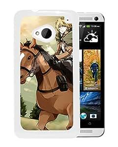 Fashion Designed Attack on Titan 10 White HTC ONE M7 Phone Case