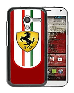 Excellent protection,Lightweight and durable Ferrari logo 2 Black MOTO X Case