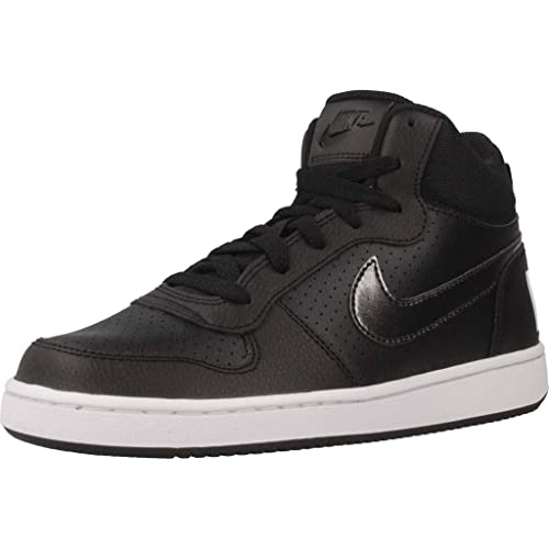 Nike Women s s Court Borough Mid (gs) Basketball Shoes Black White ... cbc00637956