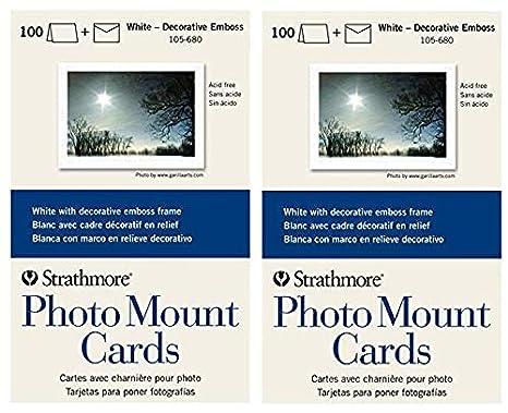 Amazoncom Strathmore 105 680 Photo Mount Cards White Decorative
